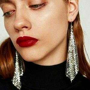 🎀Shimmering Silver Sequences Earings